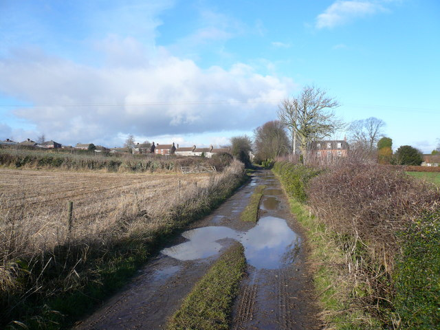 Gang Lane - View towards Scarcliffe