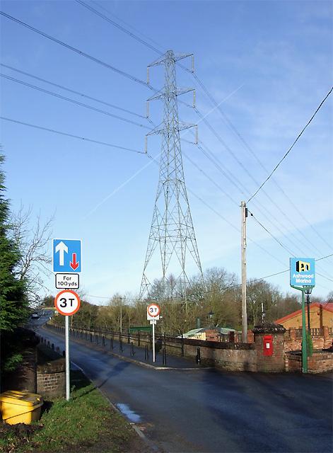 Pylons and Bridge, Ashwood, Staffordshire