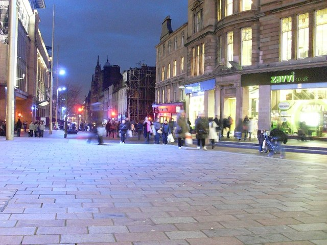 View down Buchanan Street
