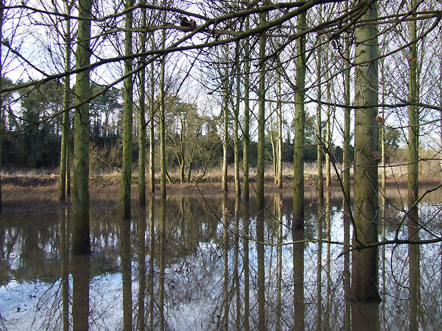 Floods by Smestow Brook, Greensforge, Staffordshire