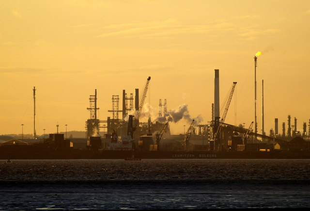 The Immingham Docks area from Stone Creek