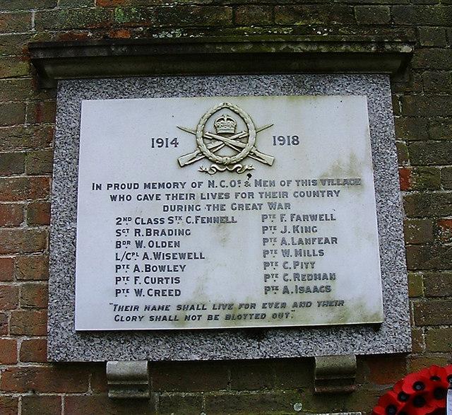 Abbotts Ann - War Memorial