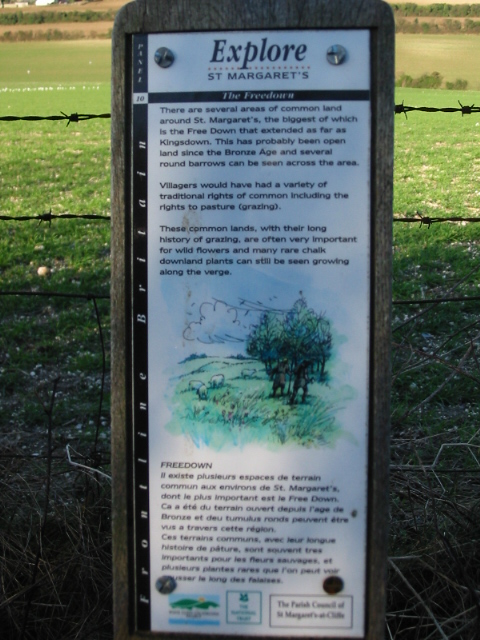 Information sign on Freedown