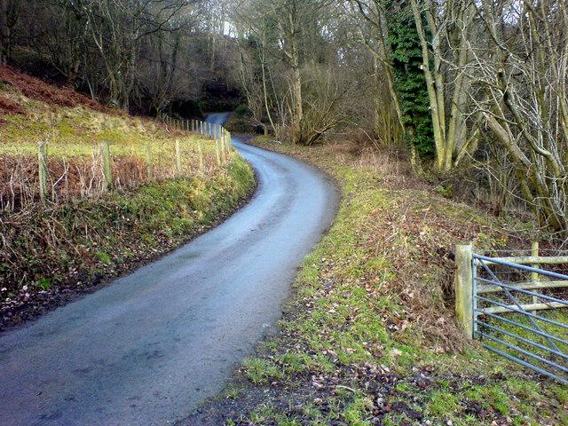 Lane below Bwlch Coch