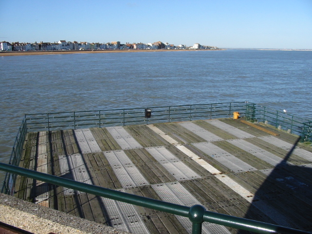 Decking at the end of Deal pier