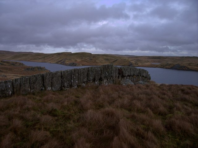 Rock slab beside Llyn Hir