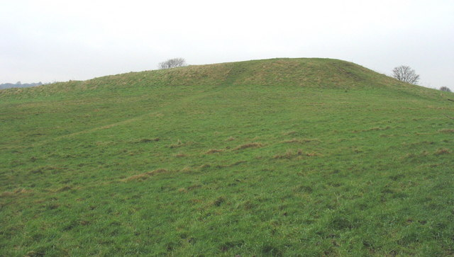 The 12th century earthworks of the Roman Camp
