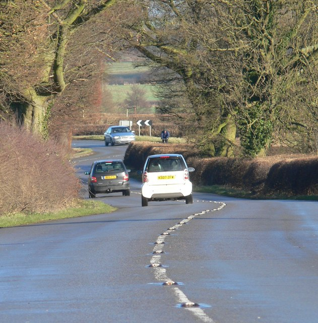 The B578 Lutterworth Road towards Burbage