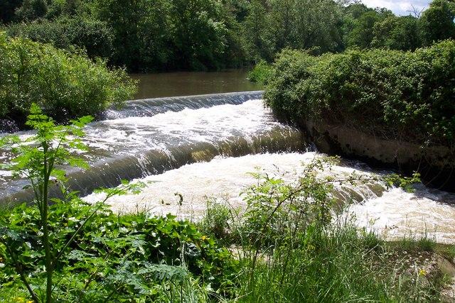 Weir at  Fiddleford Mill