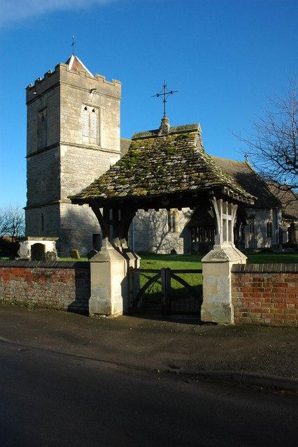 Lych gate to Sandhurst Church