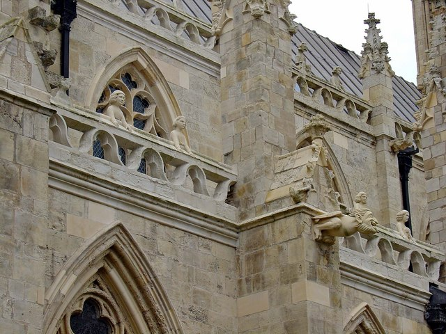 Selby Abbey: renovated sculptural features