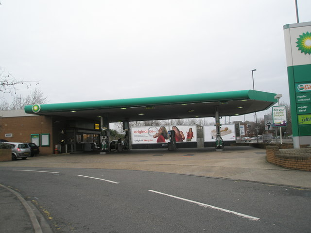 BP garage at bottom of Commercial Road