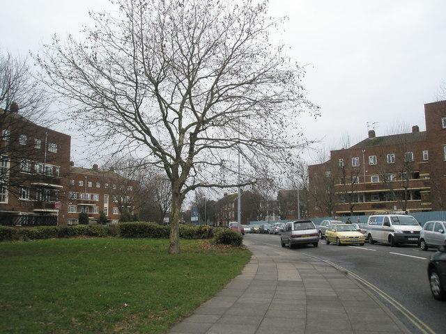 Looking eastwards along Arundel Street