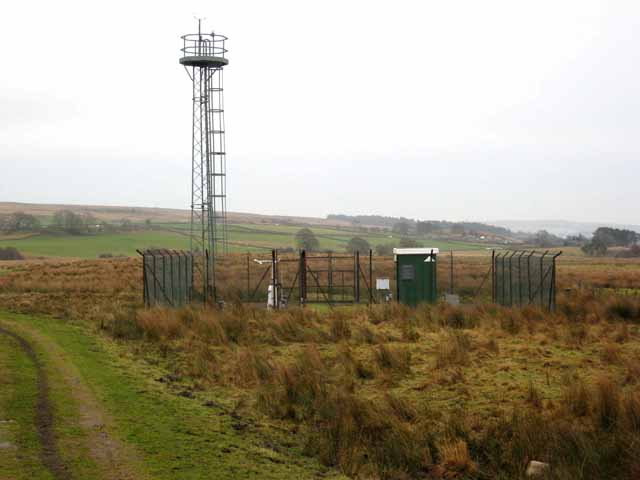 Weather station at Redesdale Camp
