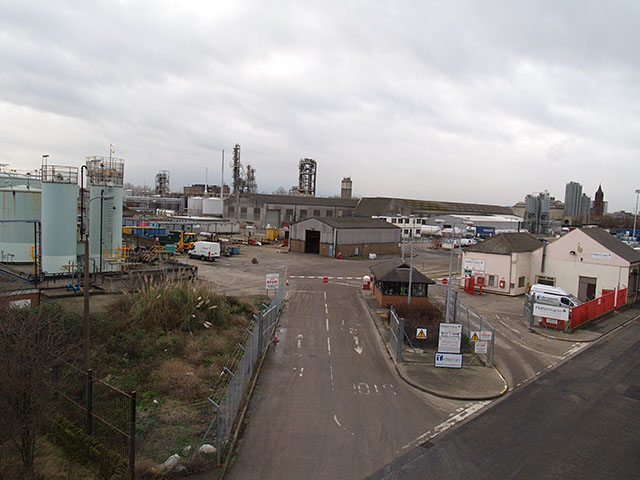 Entrance to Haltermann chemical works