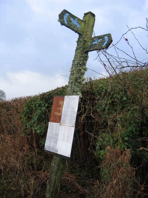 Rickety Bridleway Signpost