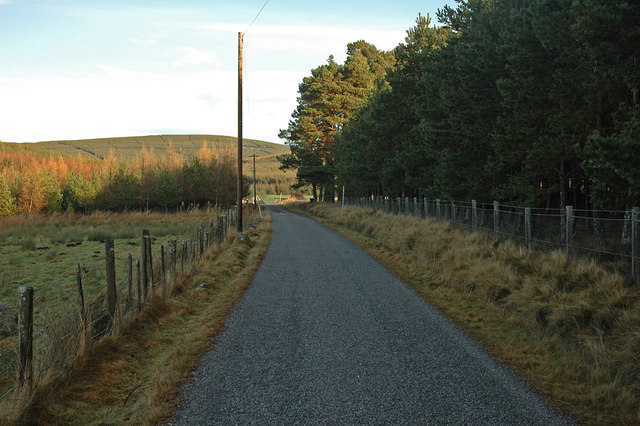 End of the public road at Balvraid