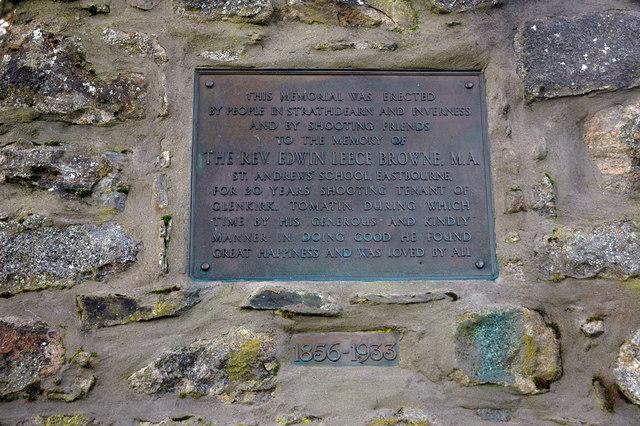 Memorial at Balvraid