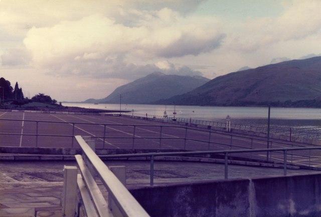 Fort William - Loch Linnhe viewed across Car Park