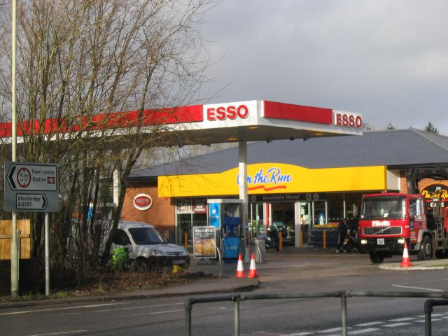 Esso service station on the Stockbridge Road