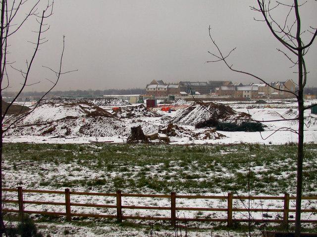 Snow on Arbury Camps, 2007