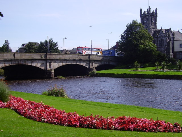Town Bridge over River Esk at Musselburgh, Scotland