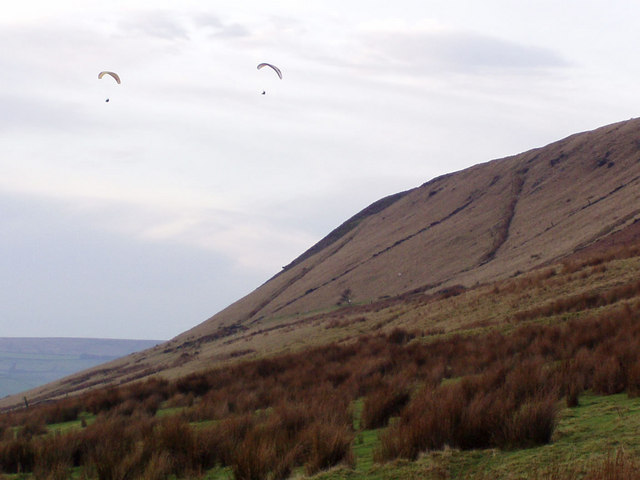 Paragliders above Fecit End Delf