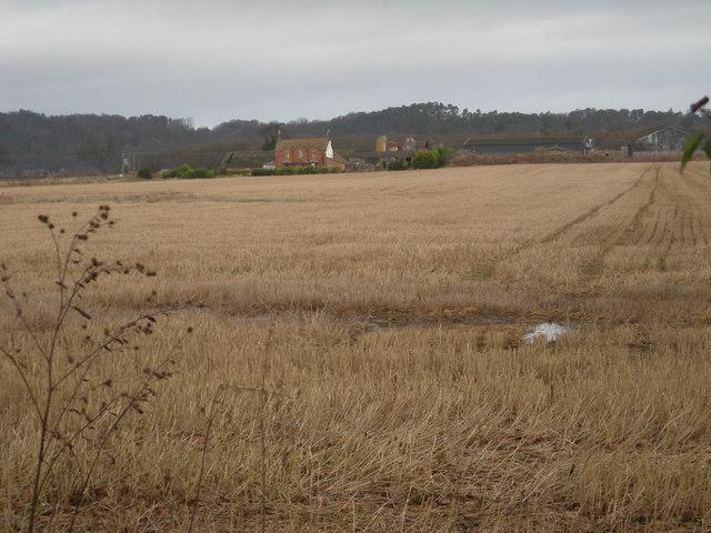 New House across arable land