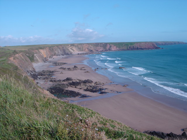 Marloes Sands from the top of the footpath