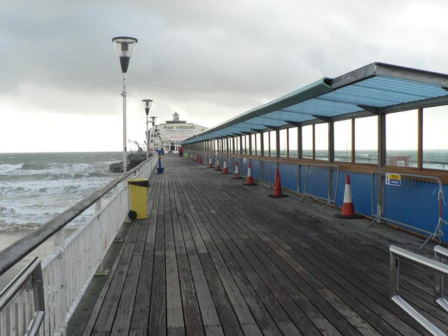 Bournemouth: looking along the pier