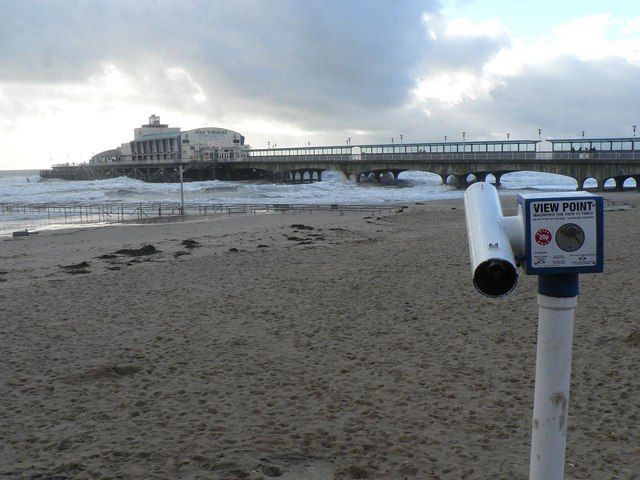 Bournemouth: telescope and pier