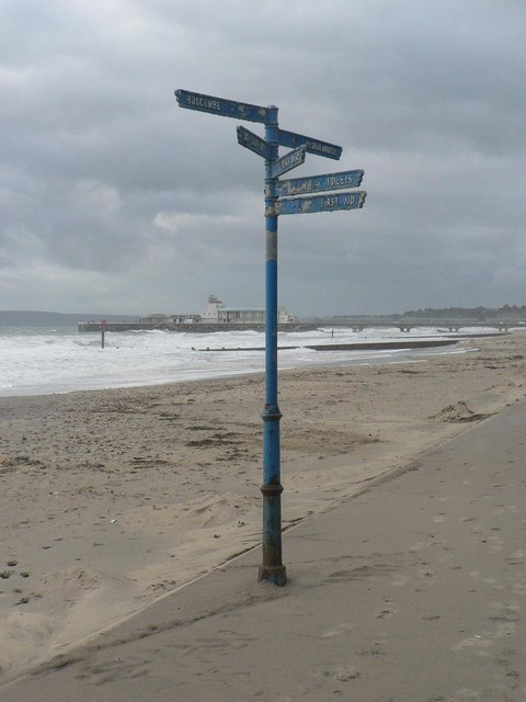 Bournemouth: prom signpost