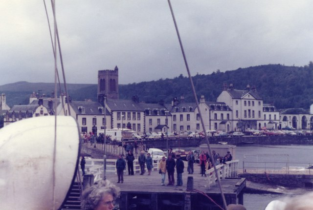 Inveraray - View from the Waverley as it docks