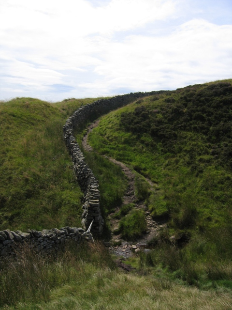 The Ribble Way crossing Sikesdale Gill