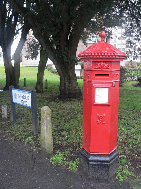 Bournemouth: hexagonal Victorian postbox