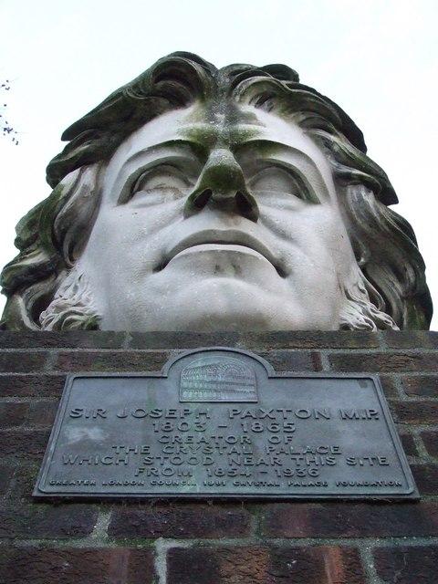 Joseph Paxton bust
