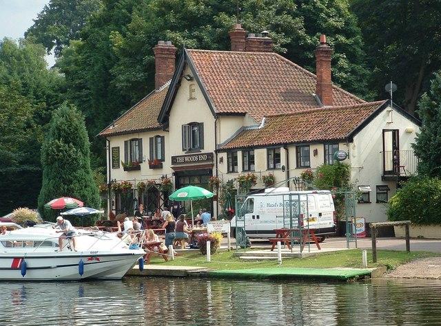 The Woods End Tavern, River Yare, Bramerton