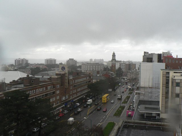 Bournemouth: Lansdowne on a wet afternoon