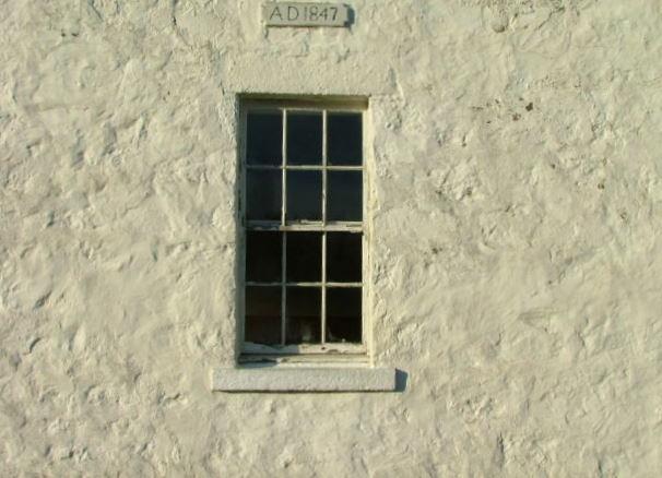 Date Inscription on Snizort Free Church of Scotland Old Manse