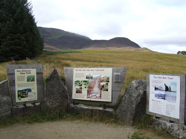 Schiehallion new path; information boards