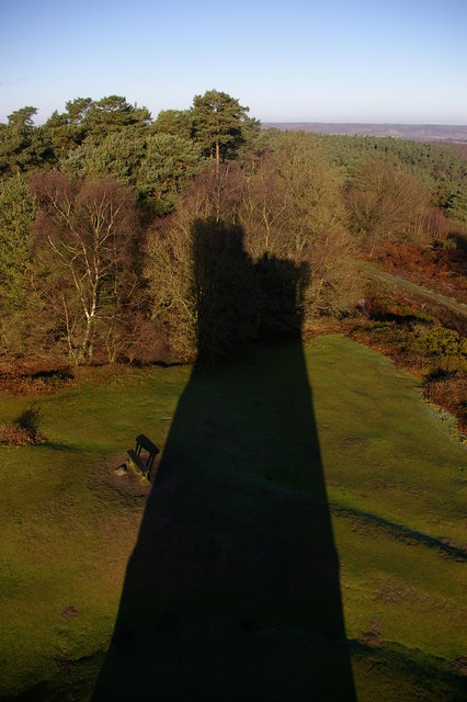 Leith Hill Tower - shadow