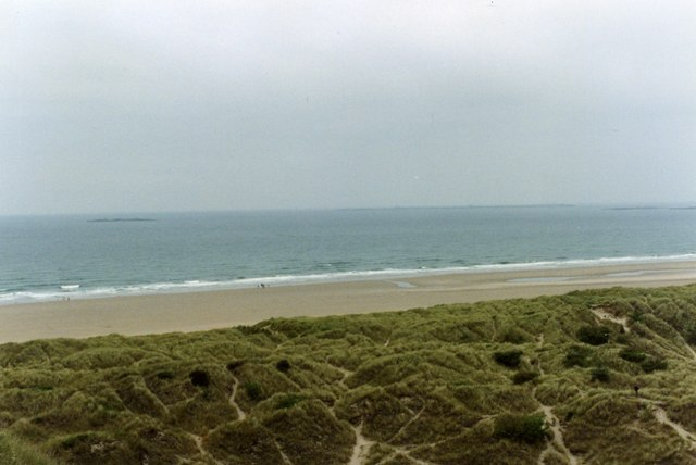 Bamburgh Castle - View of Dunes and Beach