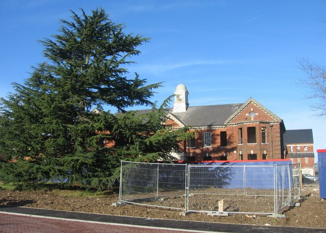 Park Prewett entrance building waiting for conversion