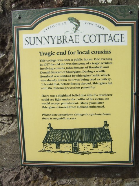 Information board for Sunnybrae Cottage