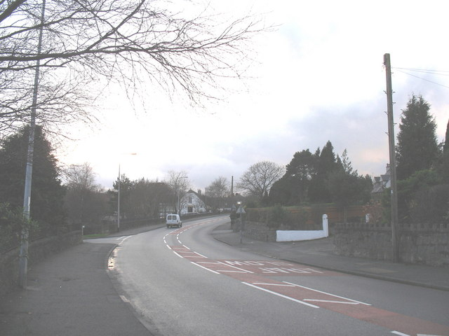 View along Penrhos Road in the direction of the Environment Agency Offices