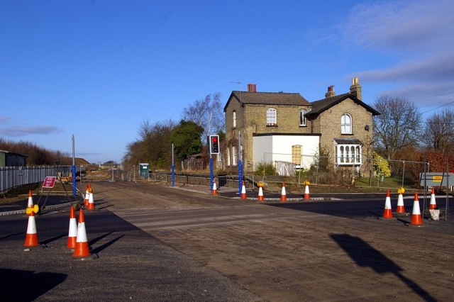 Oakington crossing - busway under construction