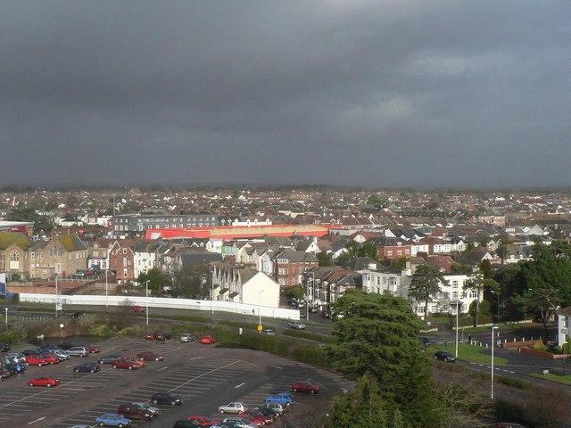 Dark skies over sunny Bournemouth