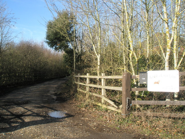 Entrance to Stockers and Tumbledown Farms