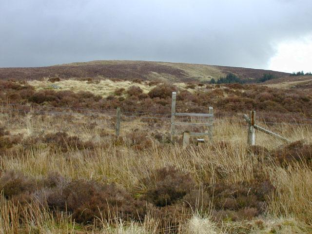 Footpath stile by the Nant Rhuddnant