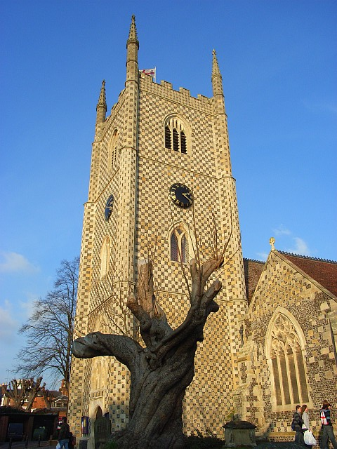 St Mary's church tower, Reading